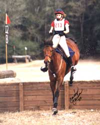 Beth Steidl and Handsome Slew, photo by Carolyn Carnes